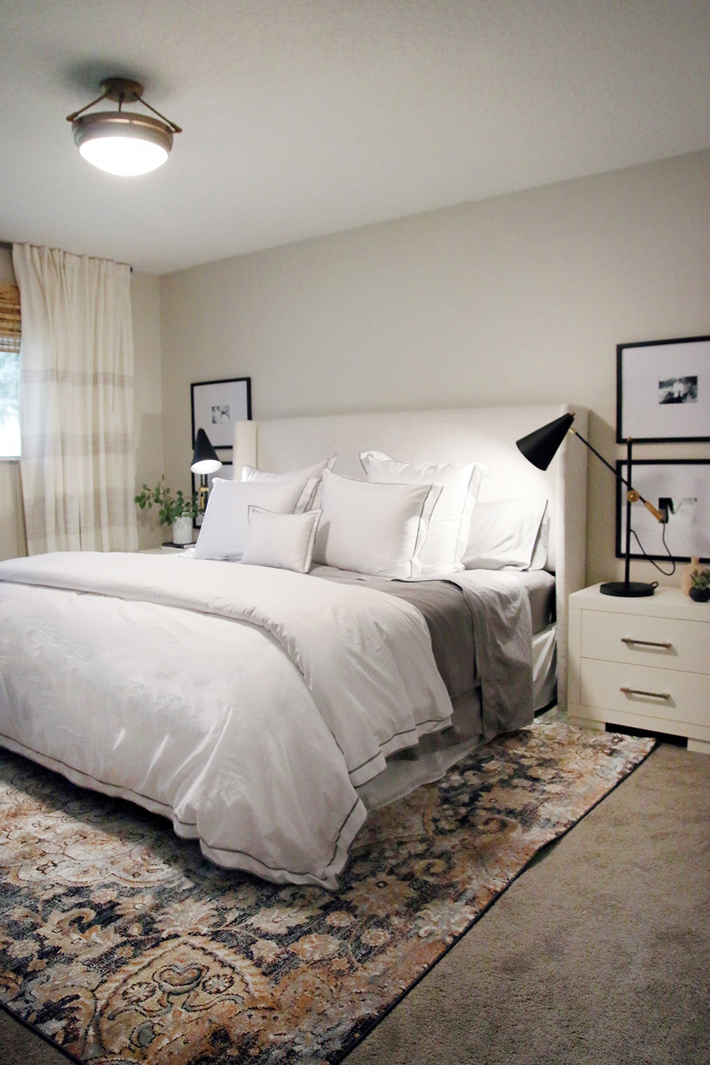 bedroom makeover. That same morning  before we started it looked like this Before and After A One Day Master Bedroom Makeover 5 Tips To