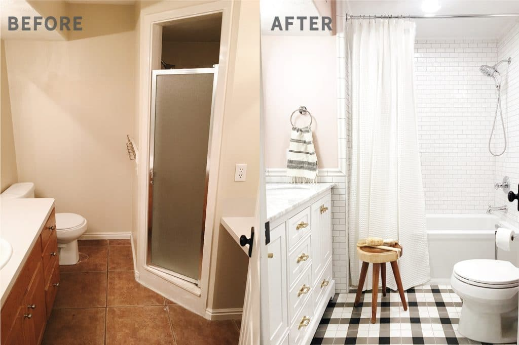 Target Bathroom Sconces before and after: the girls' bathroom is finished! - chris loves julia