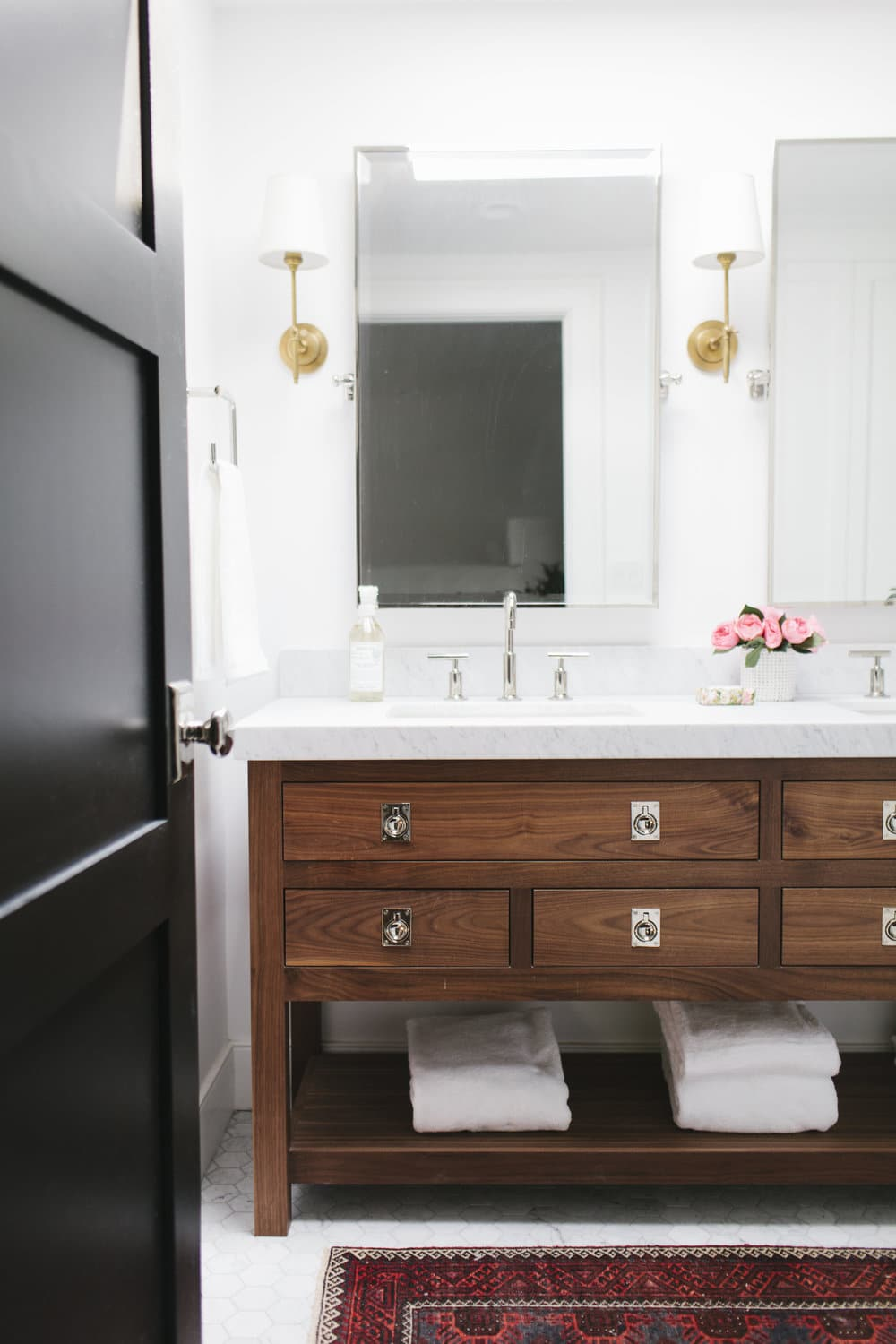 I Love This Aged Brass, Chrome And Black Bathroom From Amber Interiors.