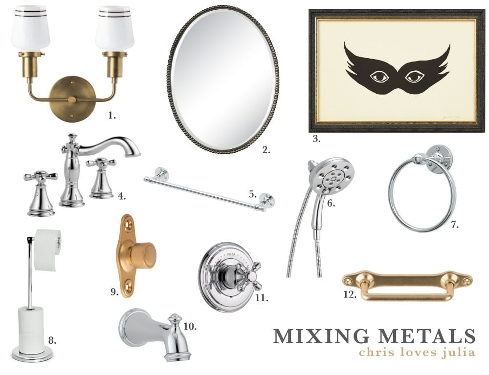 Mixing Metals in the Bathroom 101 - Chris Loves Julia