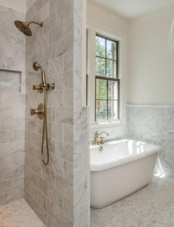 A Combined Tub And Shower: Making The Shower Area Larger, But The  Combination Pretty Standard Size. Option 2 Is Appealing Because Even Though  Chris And I ...