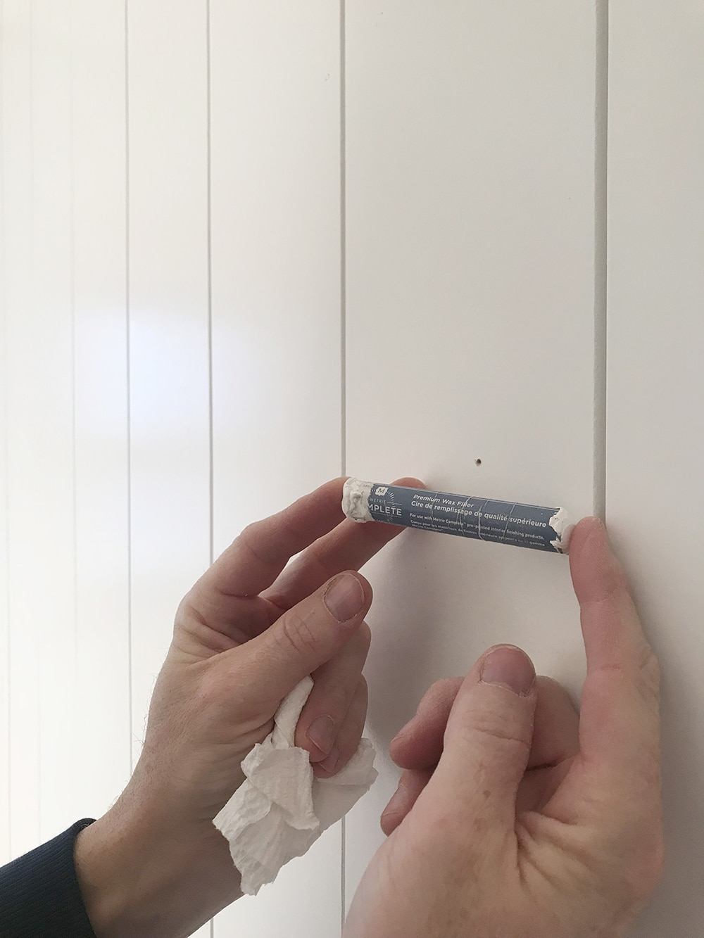 Installing Pre-Painted Vertical Shiplap In The Bathroom - Chris ...