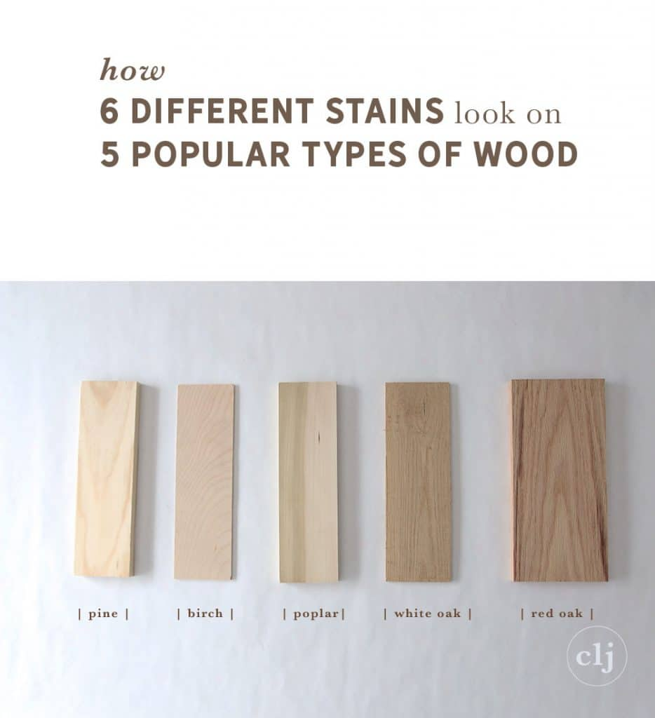 White Wash Pickling Stain On Pine: How 6 Different Stains Look On 5 Popular Types Of Wood
