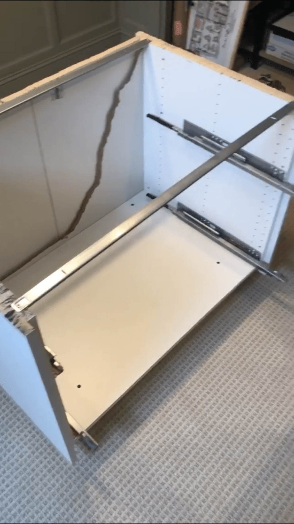 Cutting the standing desk