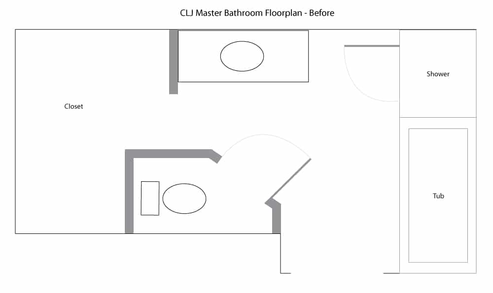 Modern Bathroom Layout Painting