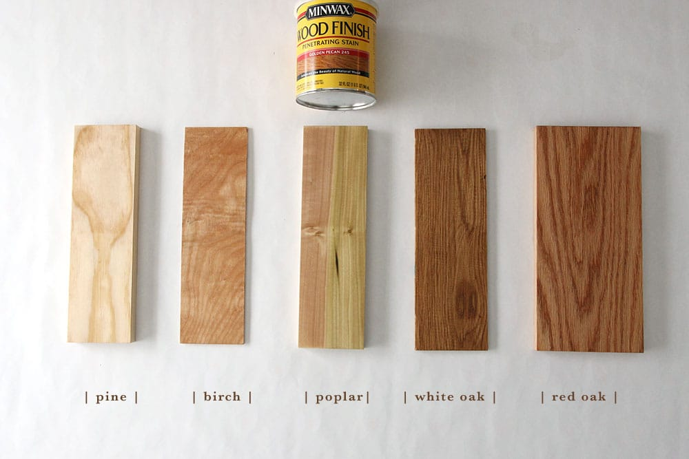 Super How 6 Different Stains Look On 5 Popular Types of Wood - Chris  ZL85