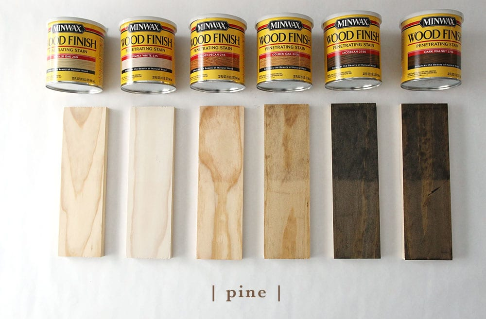 This Will Hopefully Help You See How Pine Birch Poplar White Oak And Red Oaks Undertones Play With Different Stain