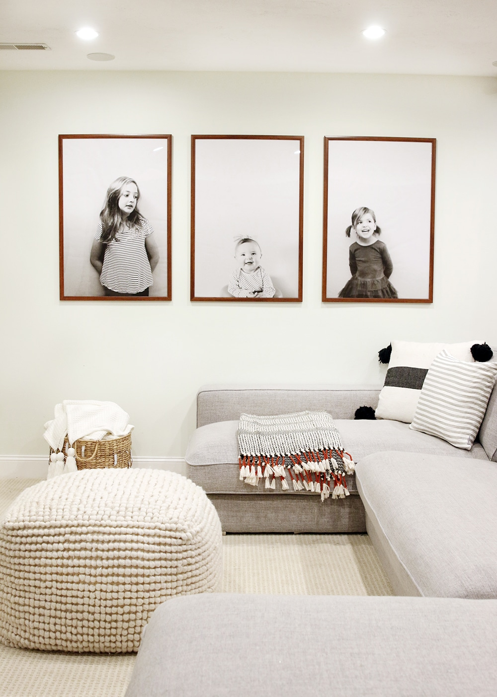 modern inexpensive large scale portraits updated chris loves julia. Black Bedroom Furniture Sets. Home Design Ideas