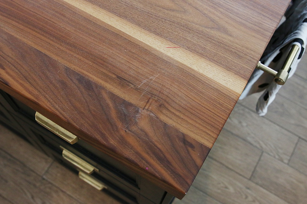How We Refinished our Butcher block Countertop - Chris Loves Julia