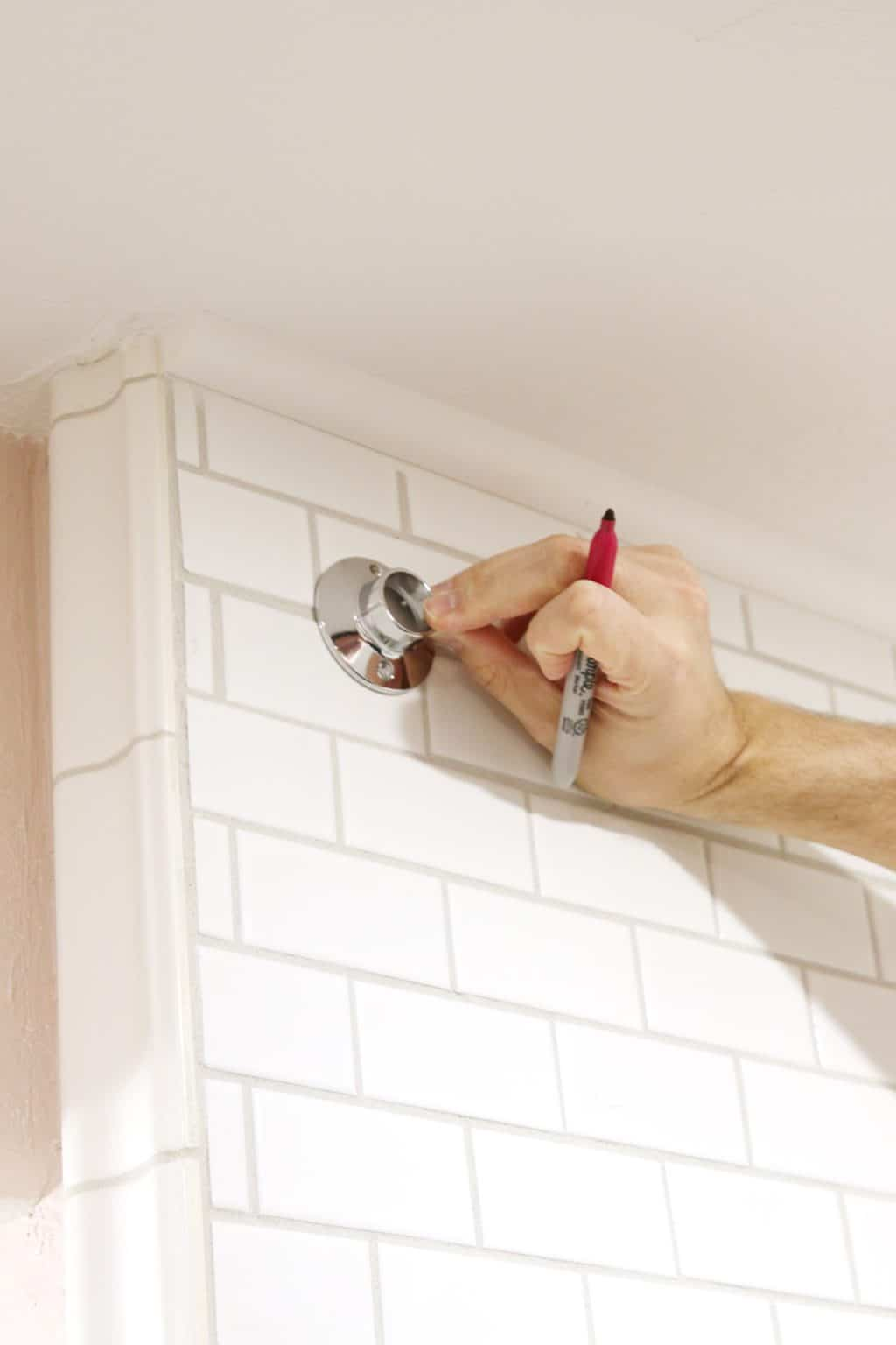 How To Drill Into Tile Hang A Shower