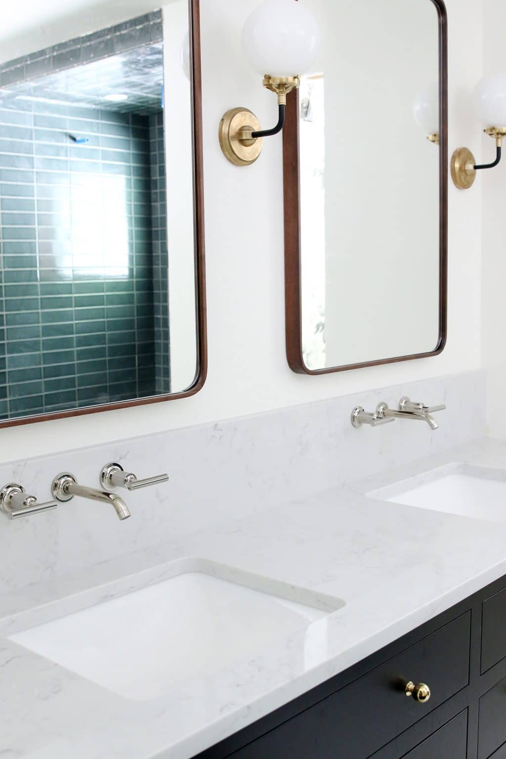 Our Undermount Bathroom Sink & Wall-Mount Faucets Installed - Chris ...
