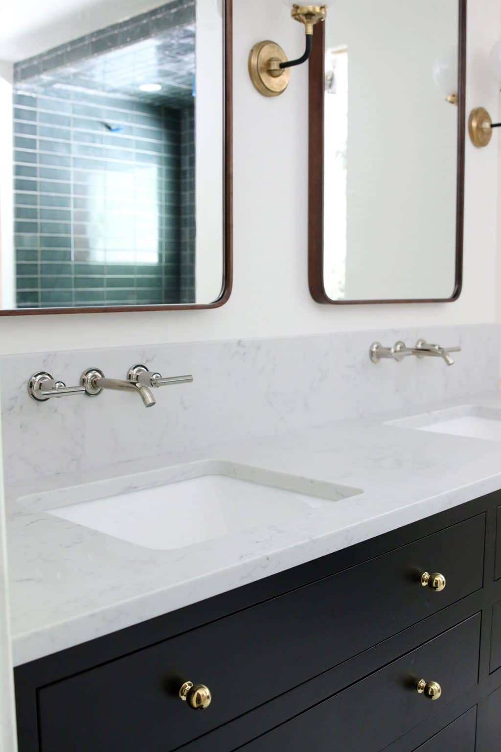 - Our Undermount Bathroom Sink & Wall-Mount Faucets Installed - Chris Loves  Julia
