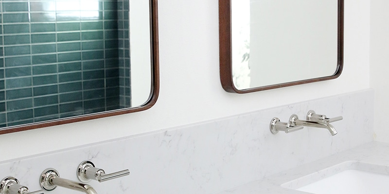 Our Undermount Bathroom Sink Wall Mount Faucets Installed Chris