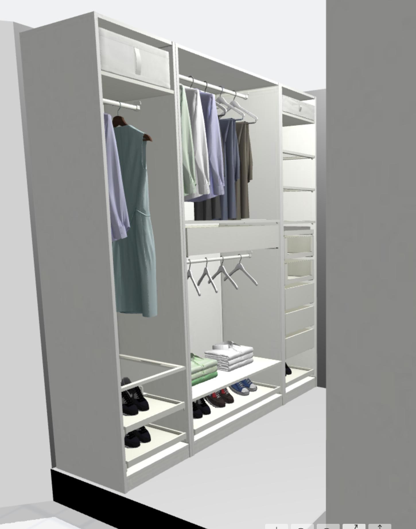 shallow wardrobe cabinet storage