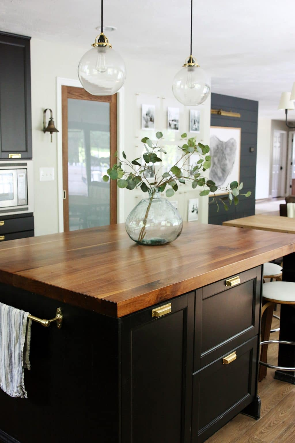 White Kitchen Island With Walnut Butcher Block Countertop : A Big Sale on Butcher Block Countertops! (You can use them everywhere!) - Chris Loves Julia