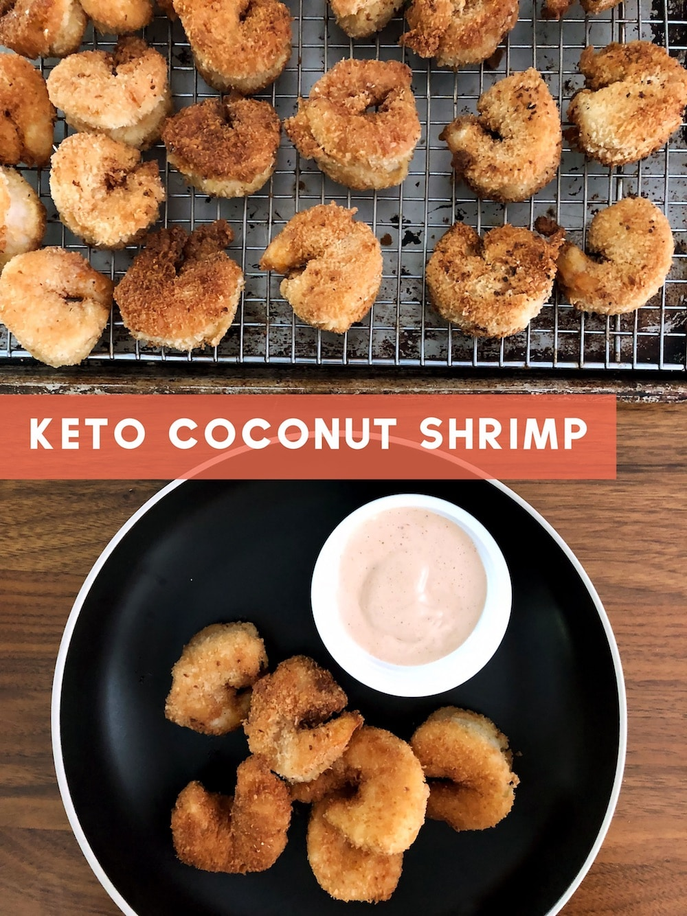 Keto Coconut Shrimp & Creole Cocktail Sauce