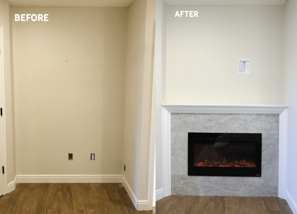 DIY Built-in Electric Fireplace