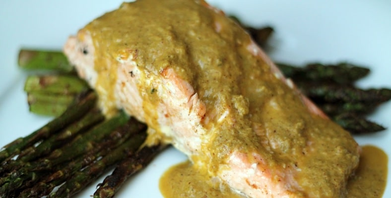 Keto Salmon with Lemon Pepper Sauce