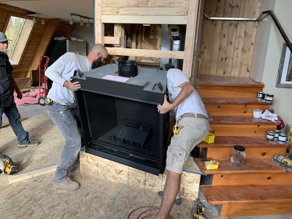 Installing a Napoleon fireplace