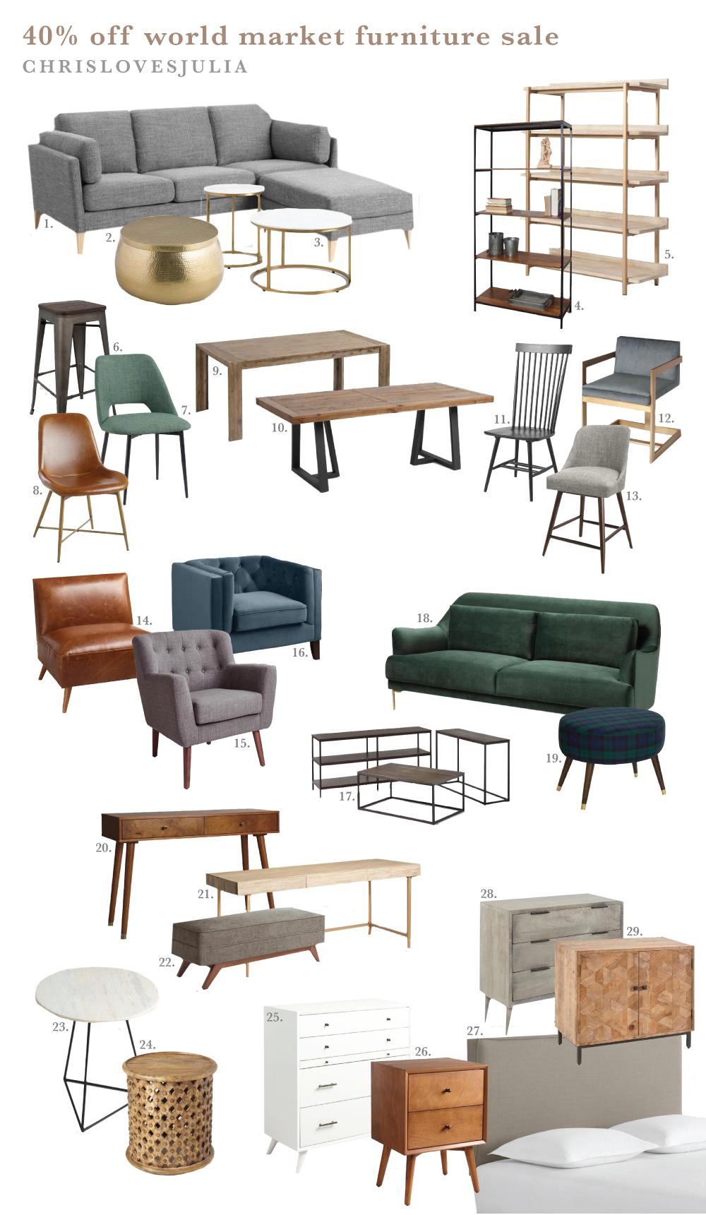 The Big 40 Off World Market Furniture Sale My Holiday Picks Chris Loves Julia