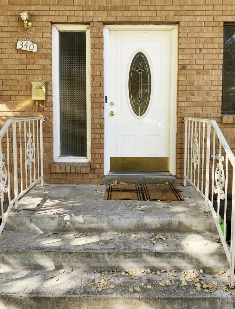 From dated to modern a budget friendly exterior entry