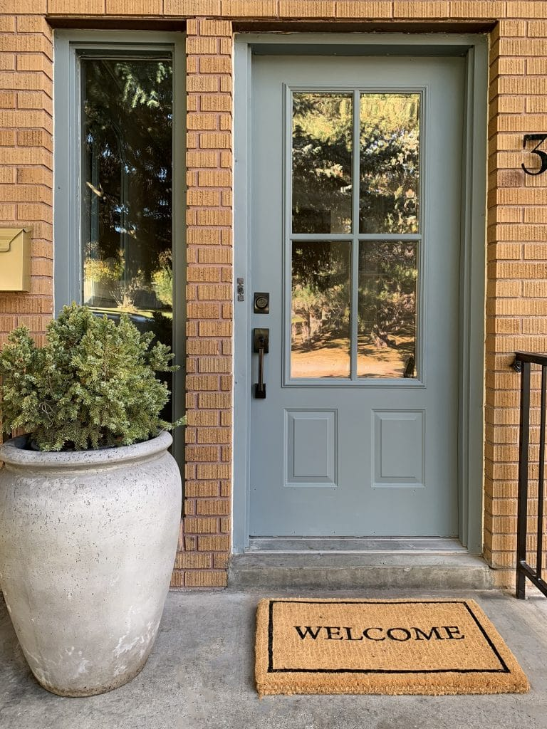 From Dated To Modern A Budget Friendly Exterior Entry Makeover Chris Loves Julia