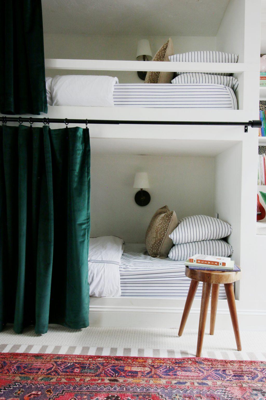 Hanging Curtains On Bunk Beds Chris Loves Julia