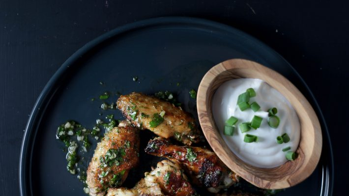 Lime & Cilantro Unfried Chicken Wings