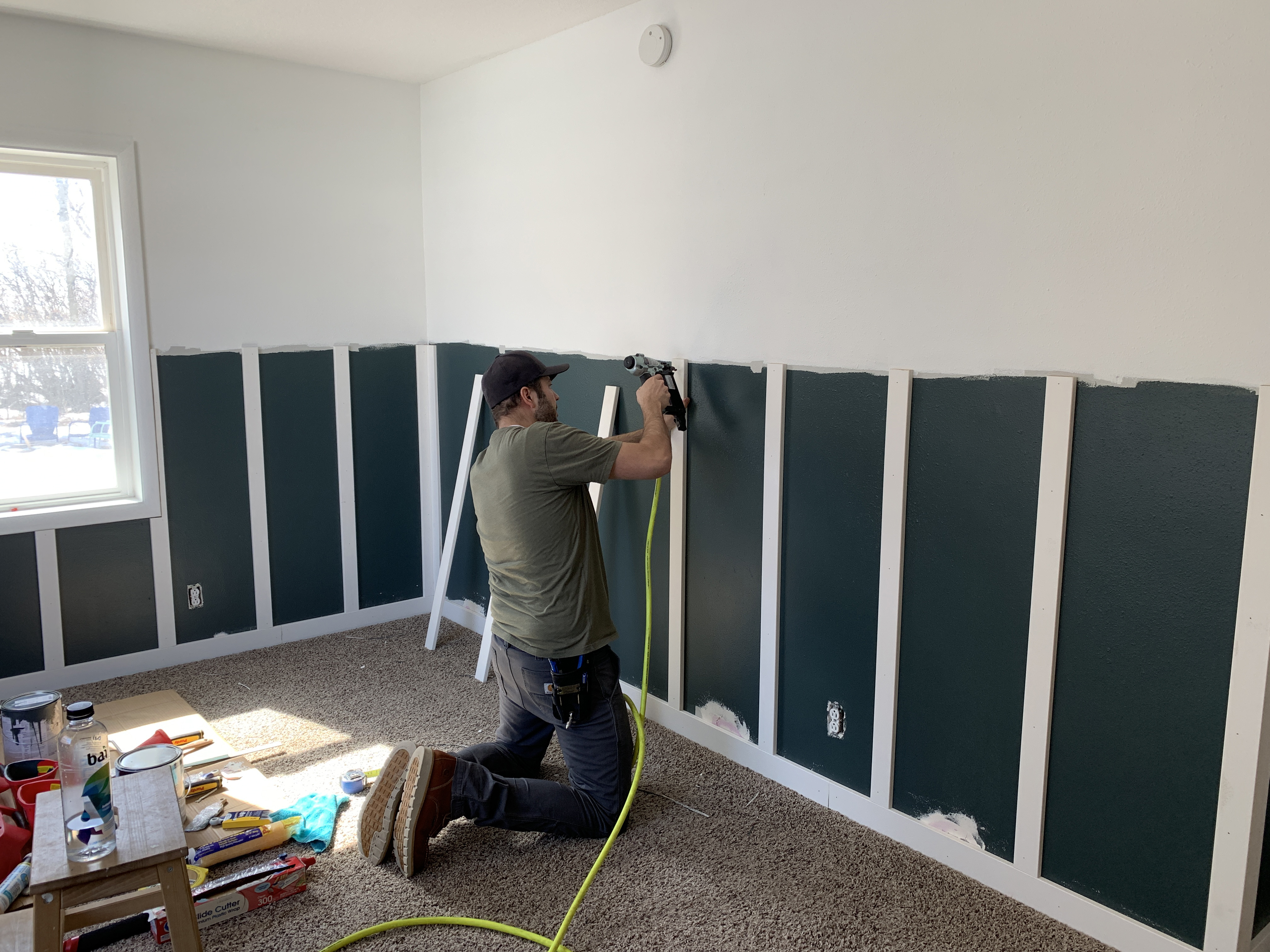 Picture of: Adding A Rich Toned Board And Batten To A Bedroom Chris Loves Julia