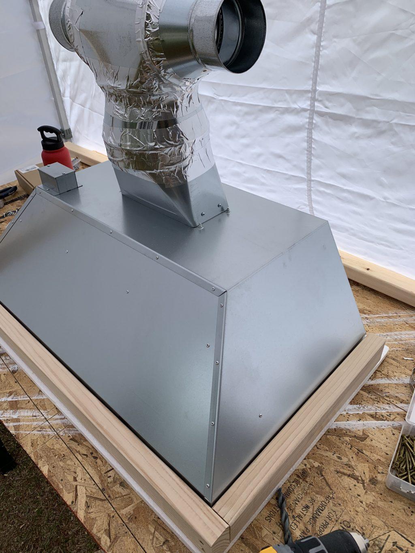 Building a custom range hood cover