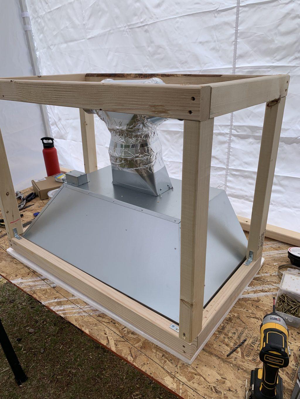 Building our custom range hood cover