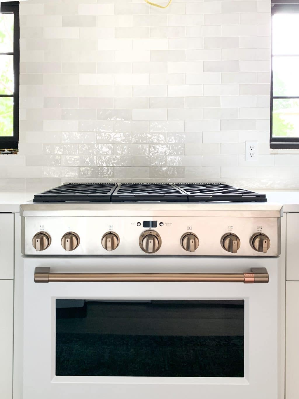 The White And Brush Bronze Cafe Appliances That Have My Whole Heart In The Fullmer Kitchen Chris Loves Julia