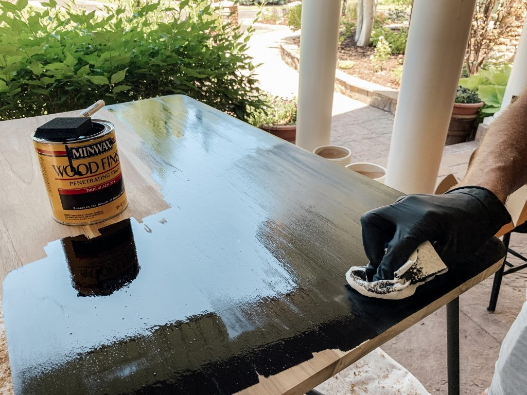 Black Stain Yes Please Chris Loves Julia - How To Stain A Wooden Table Black
