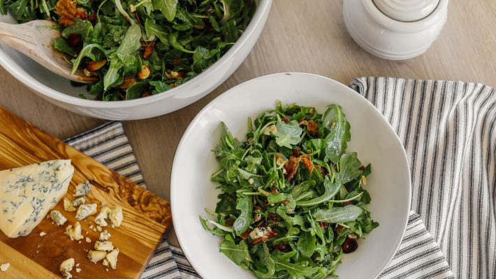 Arugula & Prosciutto Salad with Apple Cider Vinaigrette