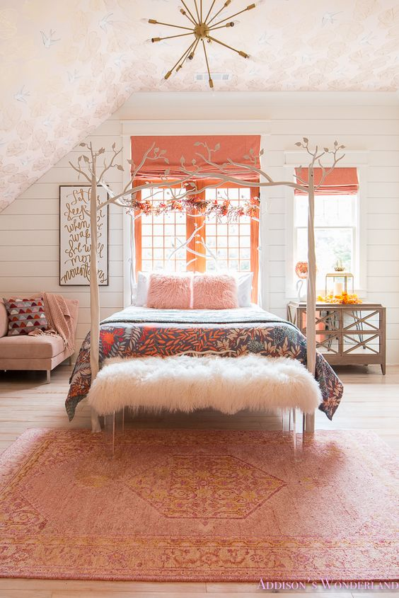 Do Or Don T Wallpaper A Slanted Ceiling And The Wallpaper We Got For Greta S Room Chris Loves Julia