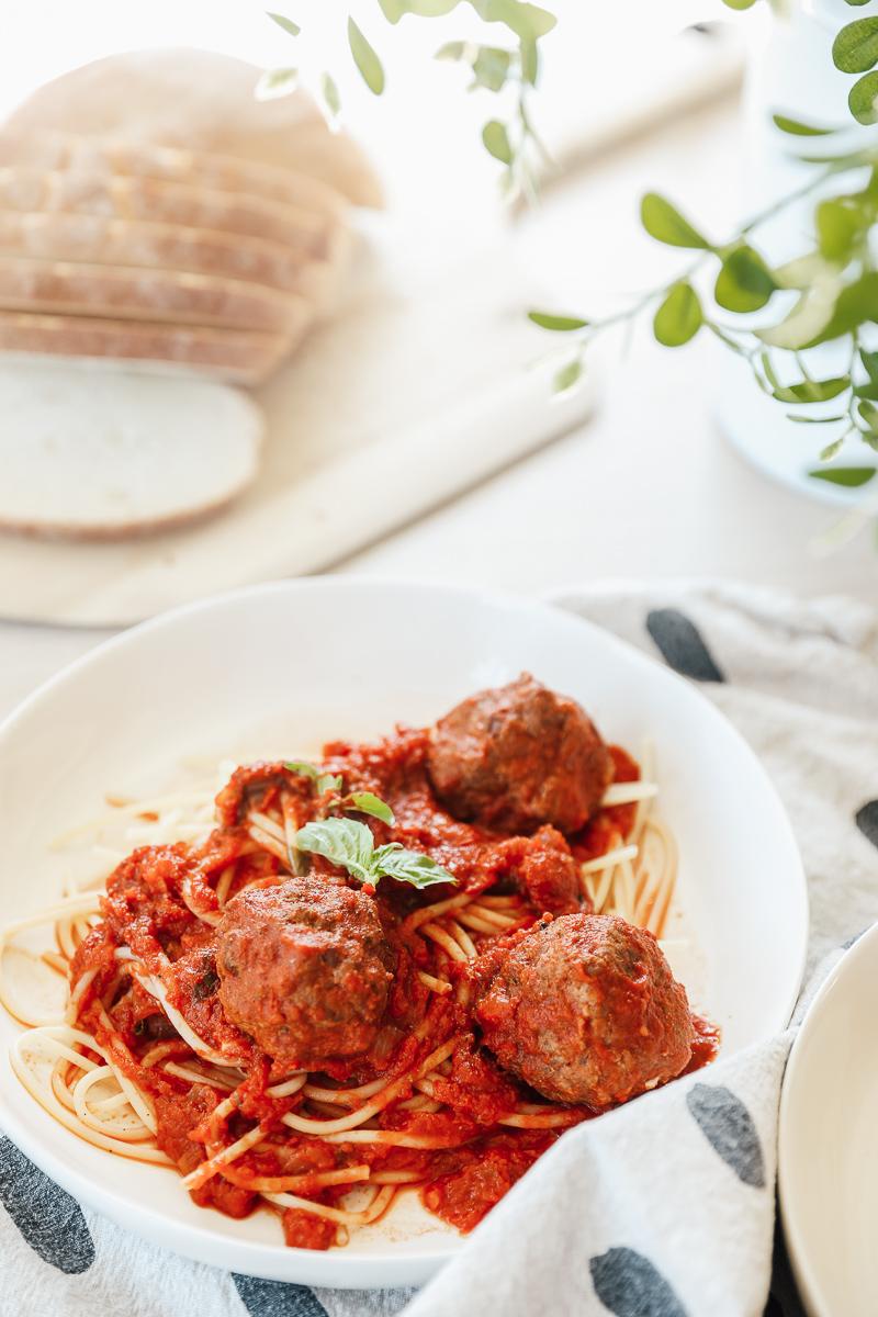 My Recipe for Spaghetti & (Gluten, Dairy, Grain-free) Meatballs
