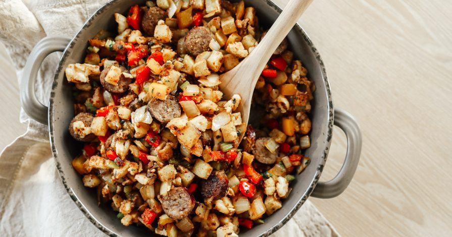 The Healthiest, Tastiest Thanksgiving Stuffing (gluten free, grain free, dairy free, egg free)