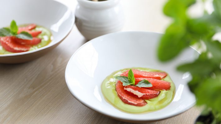 Grapefruit with Avocado Cream (dairy free)