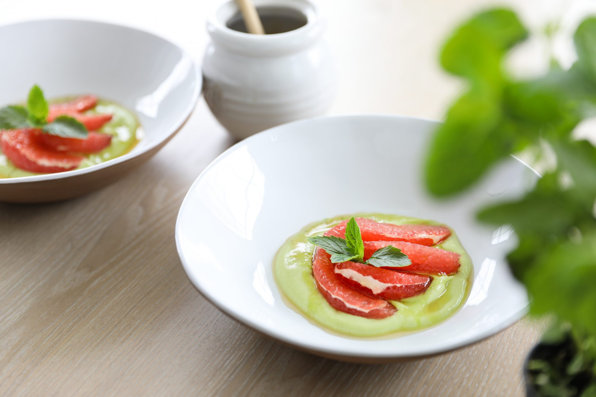 Grapefruit with Avocado Cream (dairy free)