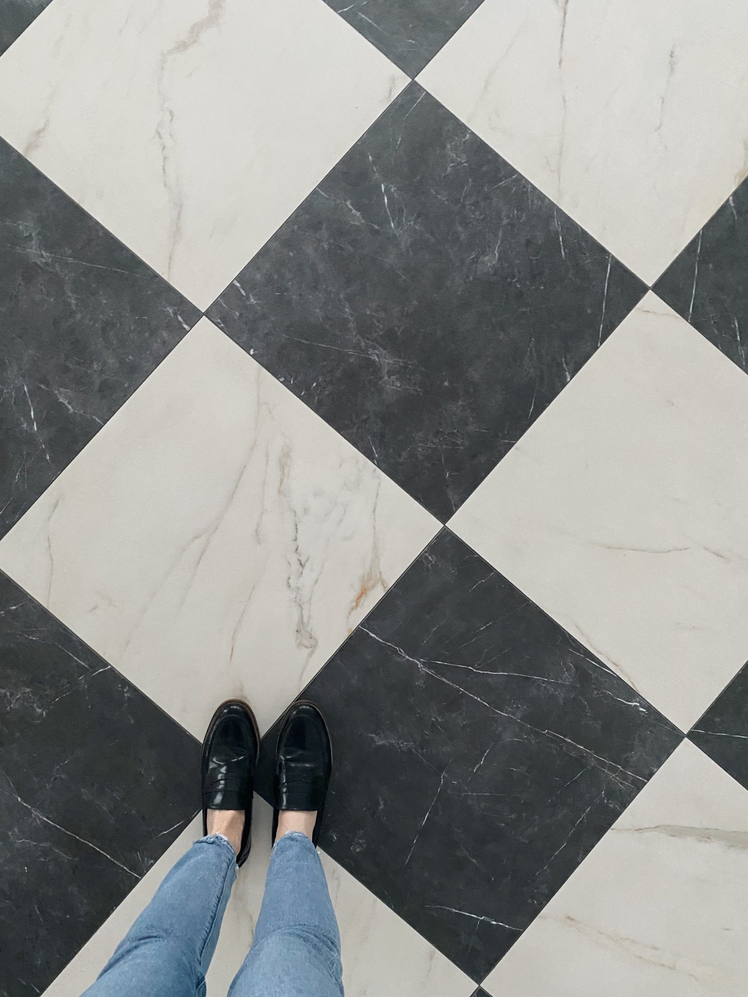 Stone Checkerboard Floors
