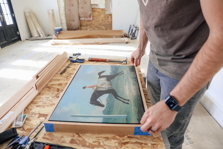 How To Diy Canvas Floater Frame Chris Loves Julia