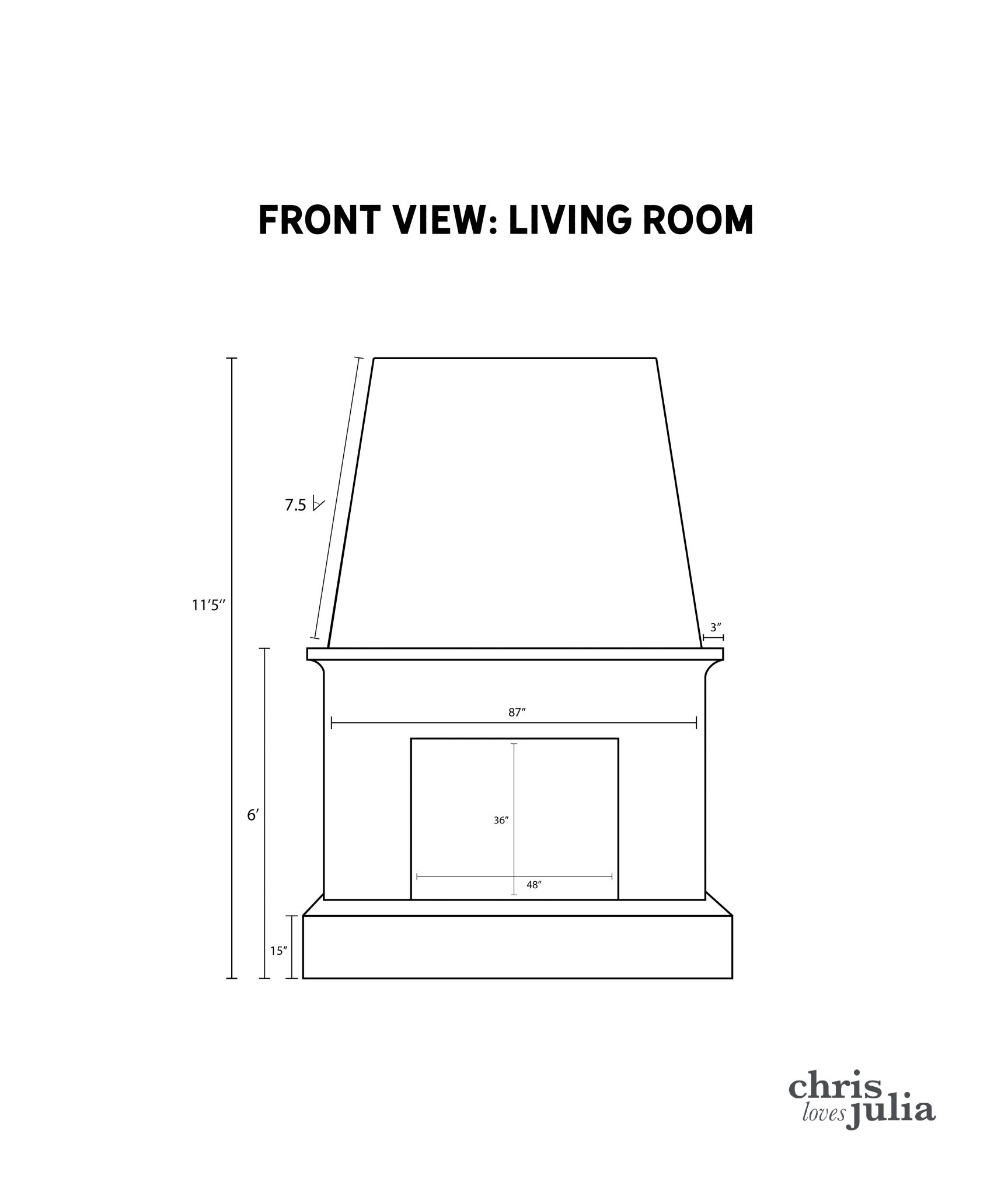 CLJ Fireplace Dimensions