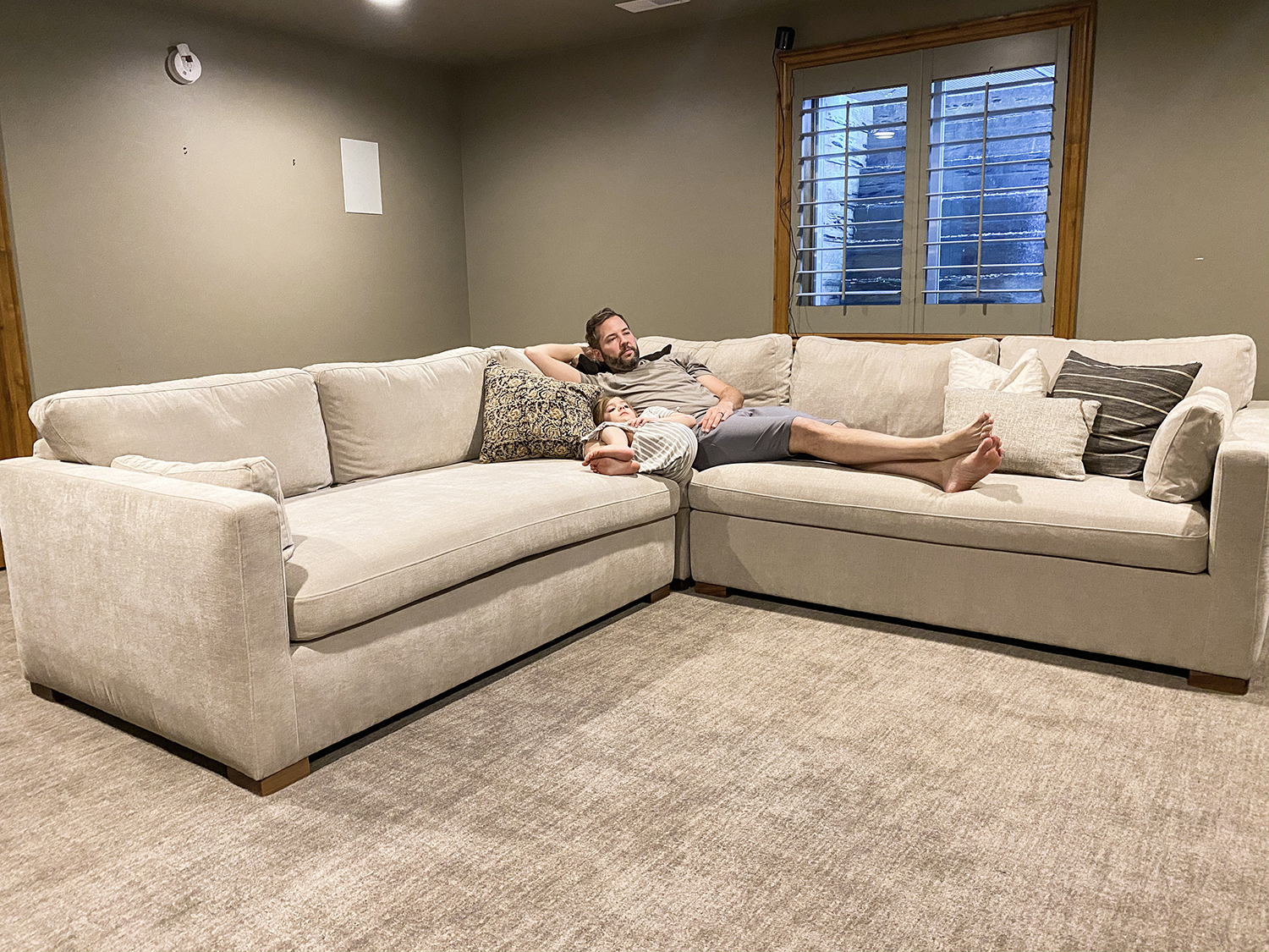Introducing Our Future Theater Room And New Charly Sectional Chris Loves Julia