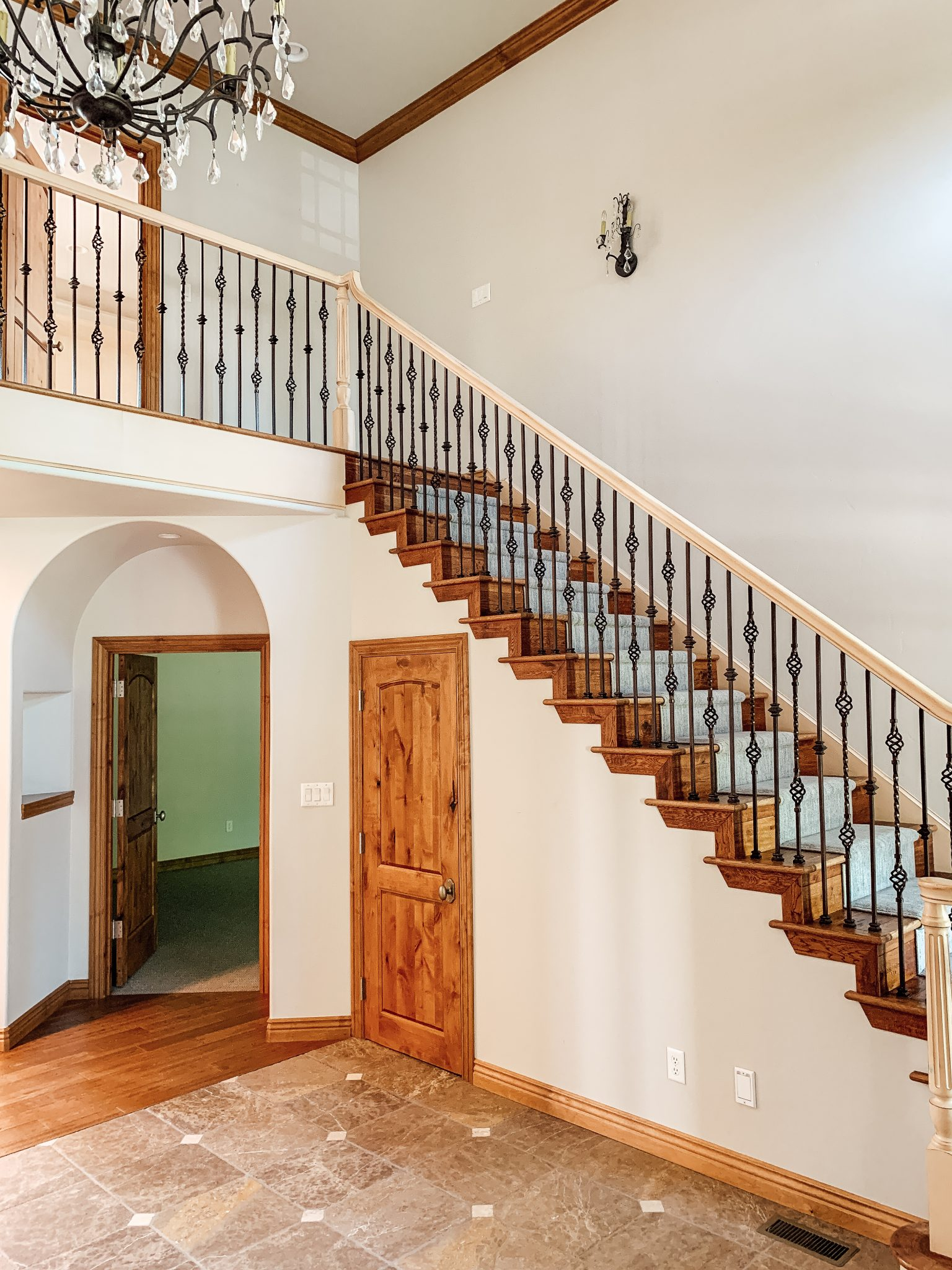 How We Completely Updated Our Stair Railings By Only Swapping Out The Balusters Chris Loves Julia
