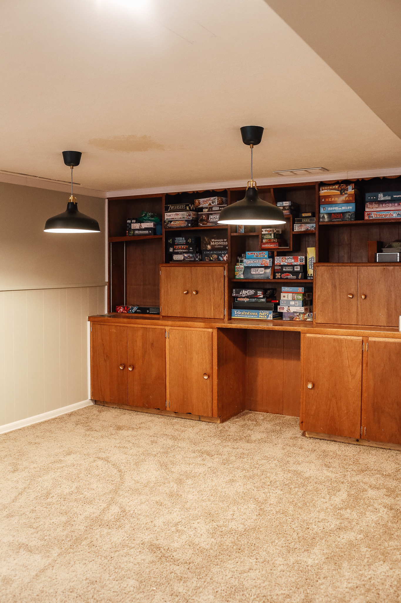 Before Amp After Basement Storage Becomes A Game Room