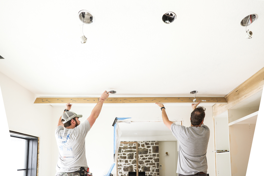 How to Plank a Ceiling and Install Crown Moulding