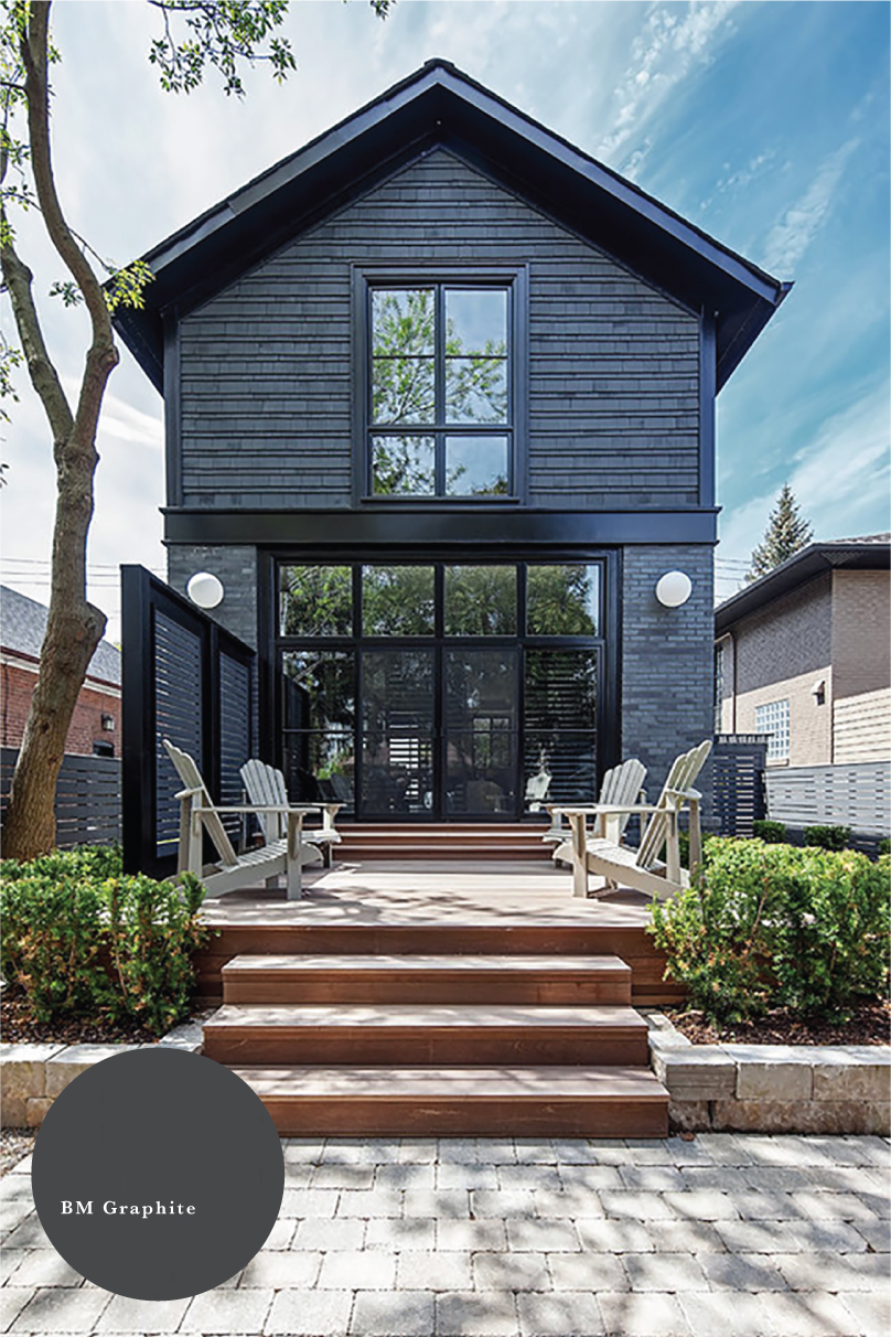 12 Dark Exterior Paint Colors We Re Loving In Action Chris Loves Julia