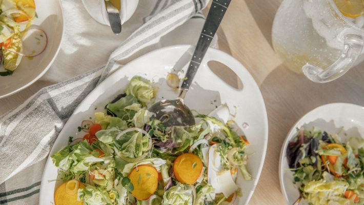 Winter Salad with Sweet Potato Dressing