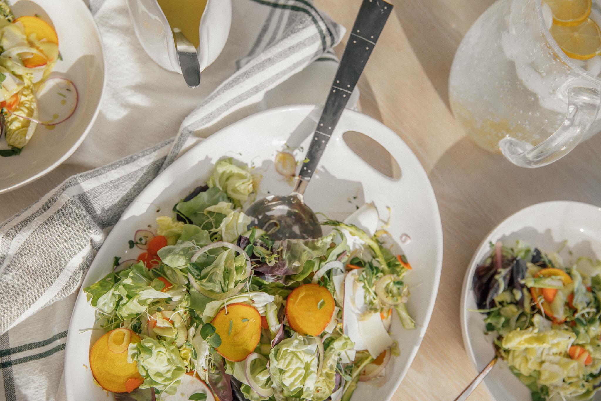 Winter Salad with Sweet Potato Dressing