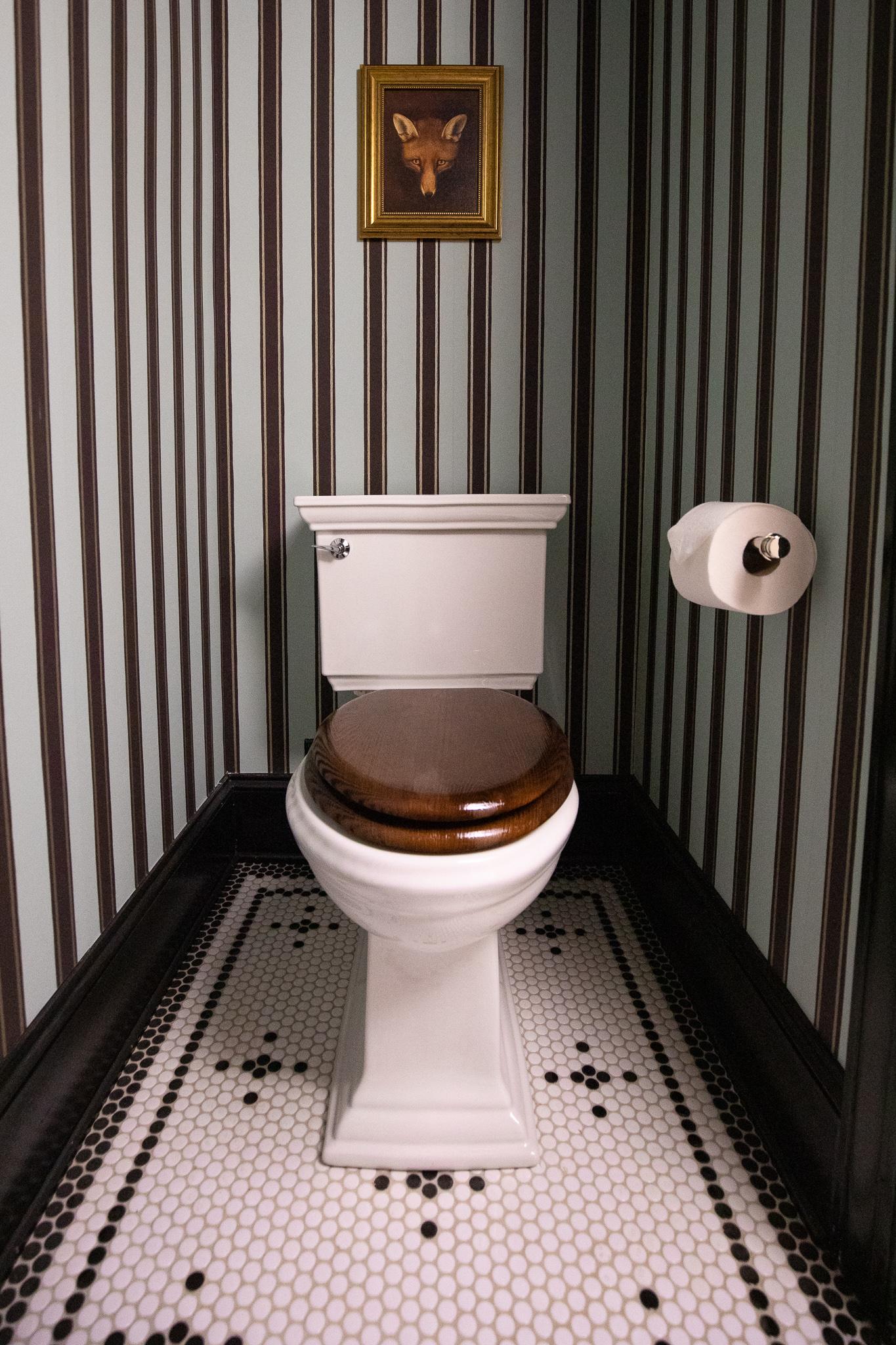 wooden toilet sink
